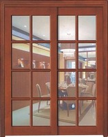 wooden sliding door interior double glass doors in laminate mdf