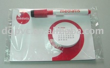 2011 convenient and flexible magnet,and have pen calendar magnet