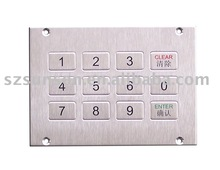 304 high quality Stainless Steel Metal keypad SNK120A