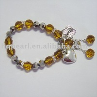 glass bracelet, glass beads bangle