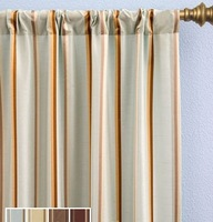YARN DYED STRIPE CURTAIN WITH ROD POCKET