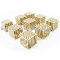 9 Wooden Thousand Cubes Montessori toy of Montessori material