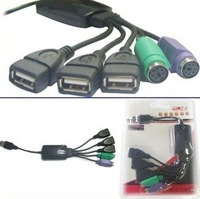 3 port USB2.0 HUB+2 PS2 port for Keyboard/Mouse combo