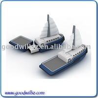 Promotional Gift Boat Shape USB Flash Memory Drive 2.0