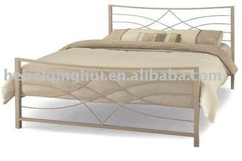 Brown Western Style Metal Double Bed Frame Buy Metal