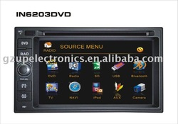 "6.2""universal Double din car dvd with IPOD connector with gps"