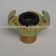 Malleable steel European type air hose coupling