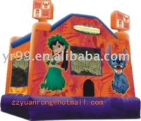 Amusement inflatable Cartoon bouncer inflatable castle inflatable slide