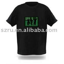 Music controlled el t shirt