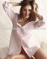 Cotton Light Pink Sexy Women's Nightshirt