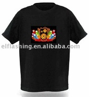 EL Flashing T-Shirt/LED Glow Tee Shirt