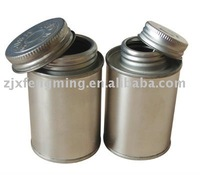 screw metal can,118ml(4oz) printed solvent can,pvc cement can