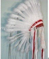 carnival indian feather hat/headdress MH-0160