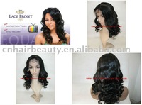 stock summer new style indian remy hair 18'' 1b highlight 30# wave lace front wigs 100% human hair