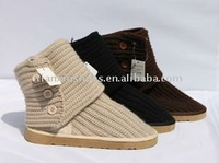latest winter knitting snow boots shoes for women 2012