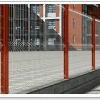 plastic coated welded mesh fence