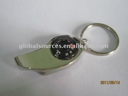 Cheapest Compass/Thermometer Bottle opener Keychain Blank Metal Keyring