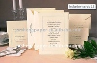 JS European Style CMYK Printing Embossing Wedding Invitation Card WI001-020