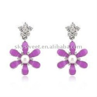 Sun Flower Crystal Avenue Earrings(SWTH014)