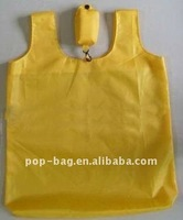 yellow grocery bag with polyester material for shopping