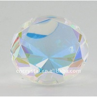 Multi Color Prism Glass Diamond Shaped Paper Weight