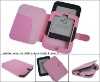 Pink color Leather Case for Nook simple touch 6
