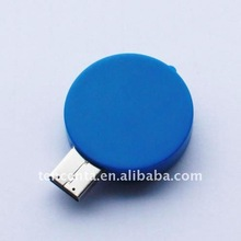 best selling!round shape plastic USB flash driver 4GB usb disk,toy usb memory