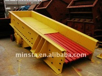 Circular vibrating feeder for stone crushing line