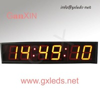 4inch 6digits indoor red high quality alibaba express wall flip clock