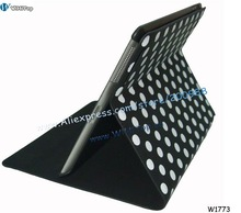 Dots Pattern Fashion Design Leather Case for iPad 2. Black,Red,White,Pink.