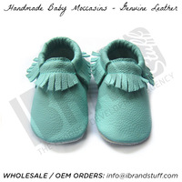 genuine leather baby moccasins, cow leather baby moccasins, fashion baby moccasins, FP moccasins, Freshly Picked Leather