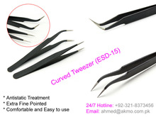 High Precision Vetus ESD-15 Anti-static Stainless Steel Tweezers/ Eyelash Extension Tweezers
