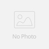 Golden glass bead with blue and black stone bead color feather earrings