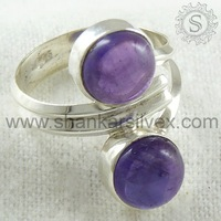 New Arrival Christmas Gemstone Finger Amethyst Ring for Women Made in India
