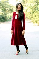 Red velvet Long Kurtis