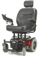 "Medalist Heavy Duty Power Wheelchair, 22"" Seat, Red"