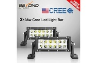 "2PC7.5"" 12*3W 36w Cree LED Off-road Fog Driving SUV Roof Light Bar Driving Spot"