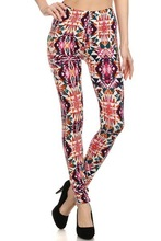 Wholesale Womens Leggings Triangle Carnival Print Tights Poly Brushed