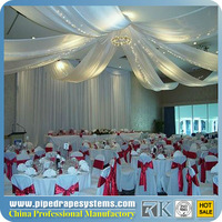 Wedding Event Supplies Portable Fabric Backdrop Decor Pipe And Drape wedding ceiling drape