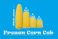 Frozen Whole/5inch/3inch/2inch Sweet Corn Cob