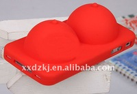 breast and boobies shape silicone case for iphone 4