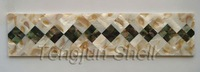 dapple color Freshwater shell and black lip shell border shell strip