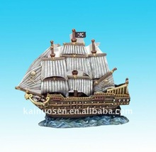 resin ship home decoration