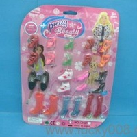 Beauty accessories plastic doll shoes
