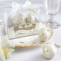 double magpie salt & pepper shaker for wedding gift