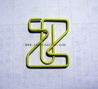 School supplies letter shape PET coated iron wire paper clip