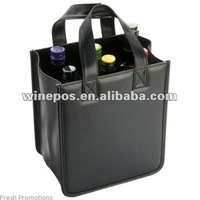 PU leather wine bag,wine tote,wine carrier,wine holder,six bottles wine bag