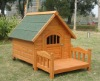HOT! Wooden Dog House With Veranda Solid Wood