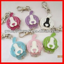 fashion dog shape digital clock keychain