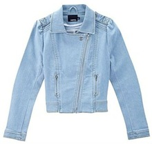 Ladies Assymetrical Placket Denim Jackets